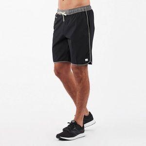 "Vuori Men's Banks Shorts 9"" Inseam *Black Linen*"
